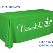 table throw imprinted