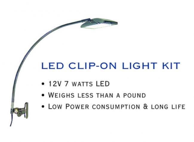 led clip-on light