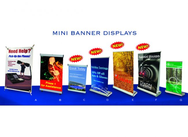 mini banner displays